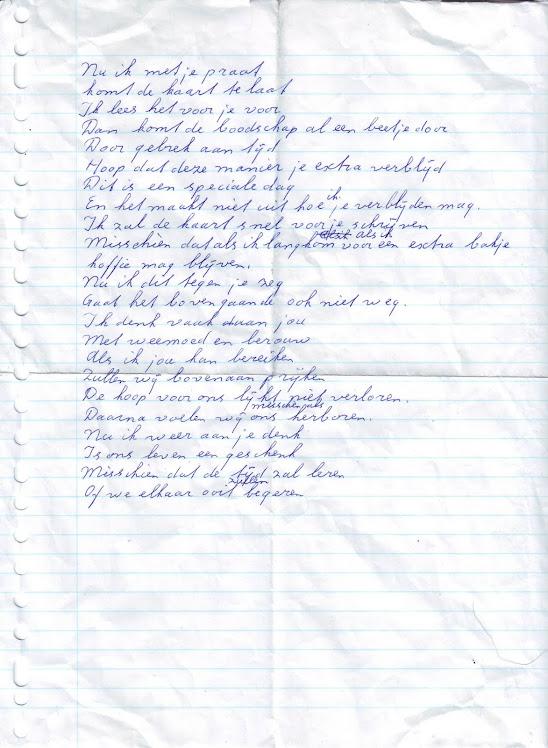 Klad Valentijnsgedicht 14 Februari 2011