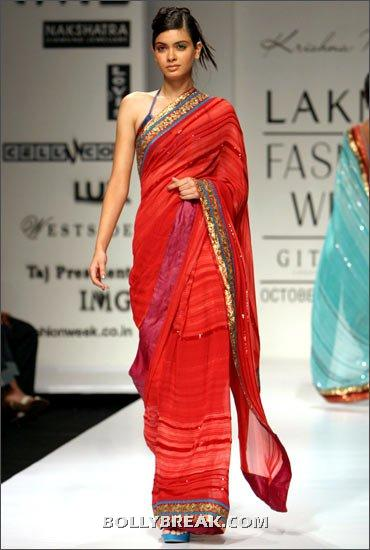 Diana Penty in red saree - (30) - Diana Penty Hot Pics - Model Ramp Walk Fashion Show