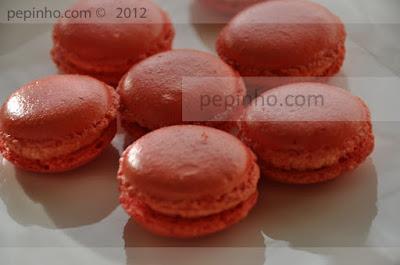 macarons de sirope de rosas