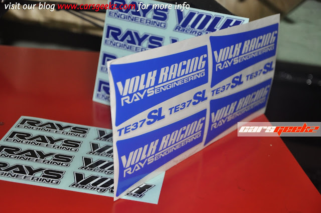 Volk Racing Rays Engineering TE37SL  sticker 6