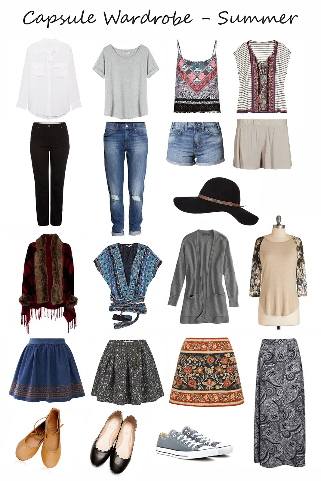 http://www.polyvore.com/summer_capsule_wardrobe/collection?id=3976539