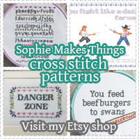 Visit my Etsy shop for cross stitch patterns!