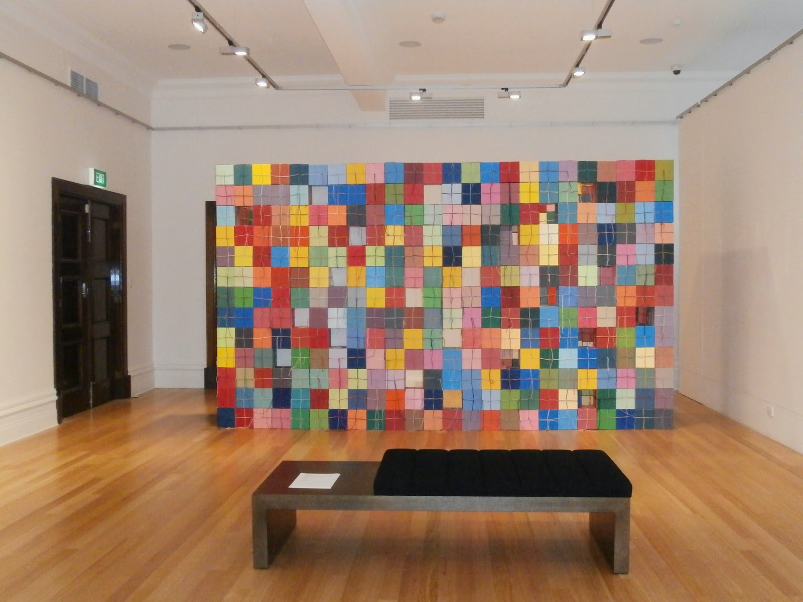 cube wall, eclectic, bayside gallery, melbourne, francesca mataraga, sarah newall, art, painting, sculpture, geometric abstraction, non objective, installation, kate mackay