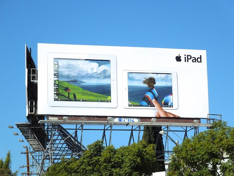 iPad finger painting billboard