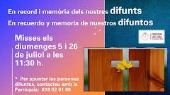 MISSES EN MEMÒRIA DELS DIFUNTS