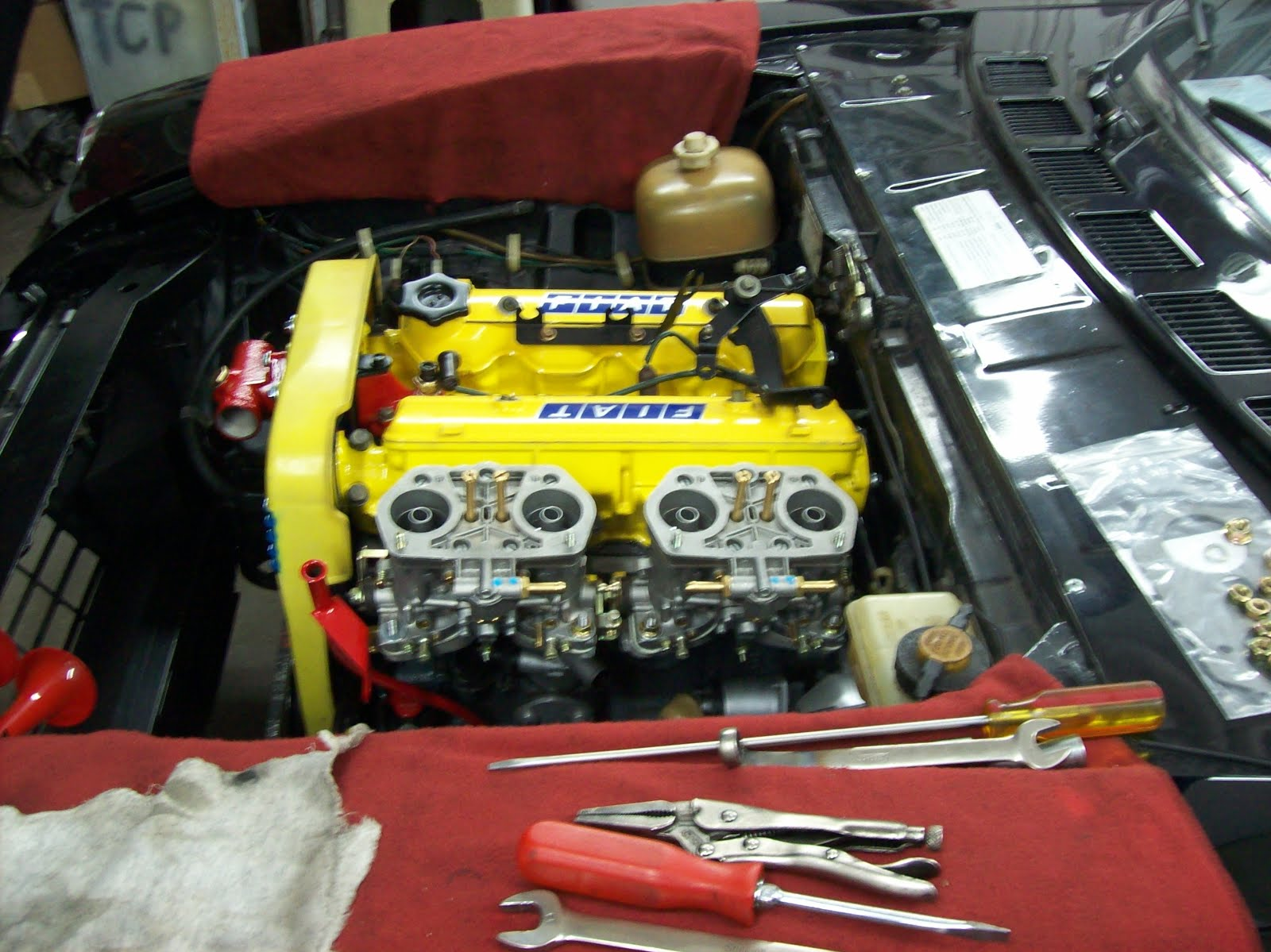 Vintage Auto Restoration A Peek Under The Hood Of Customized Fiat Timing Belt These Next Two Are Fitting And Prepping For Tuning Carburetors Really Make Car Come Alive