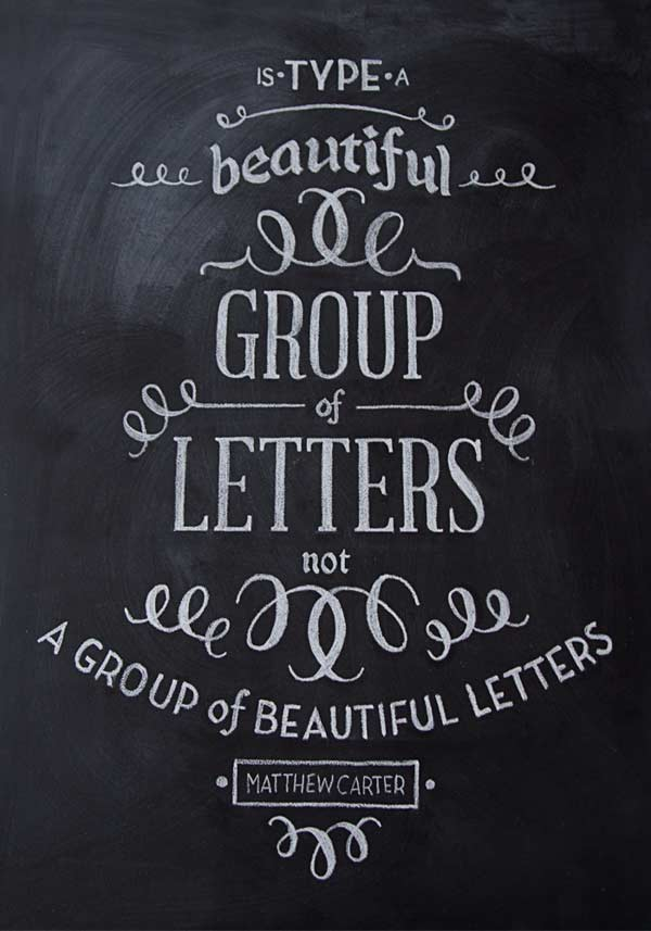 Typography 20 beautiful yet inspiring hand lettering Chalkboard typography