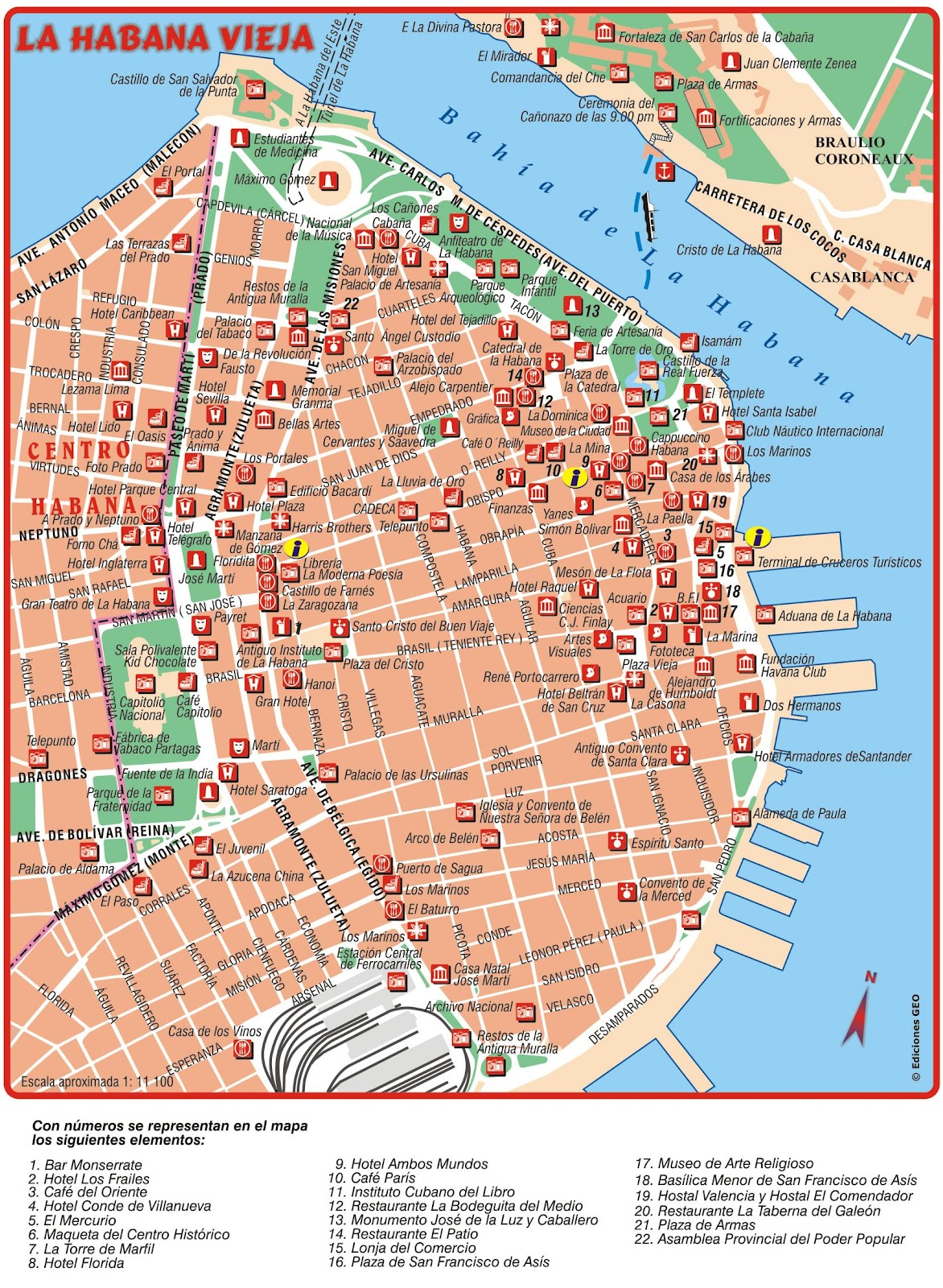 Smart image in printable map of havana