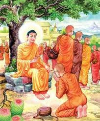 lord buddha and monks photo wesak greeting