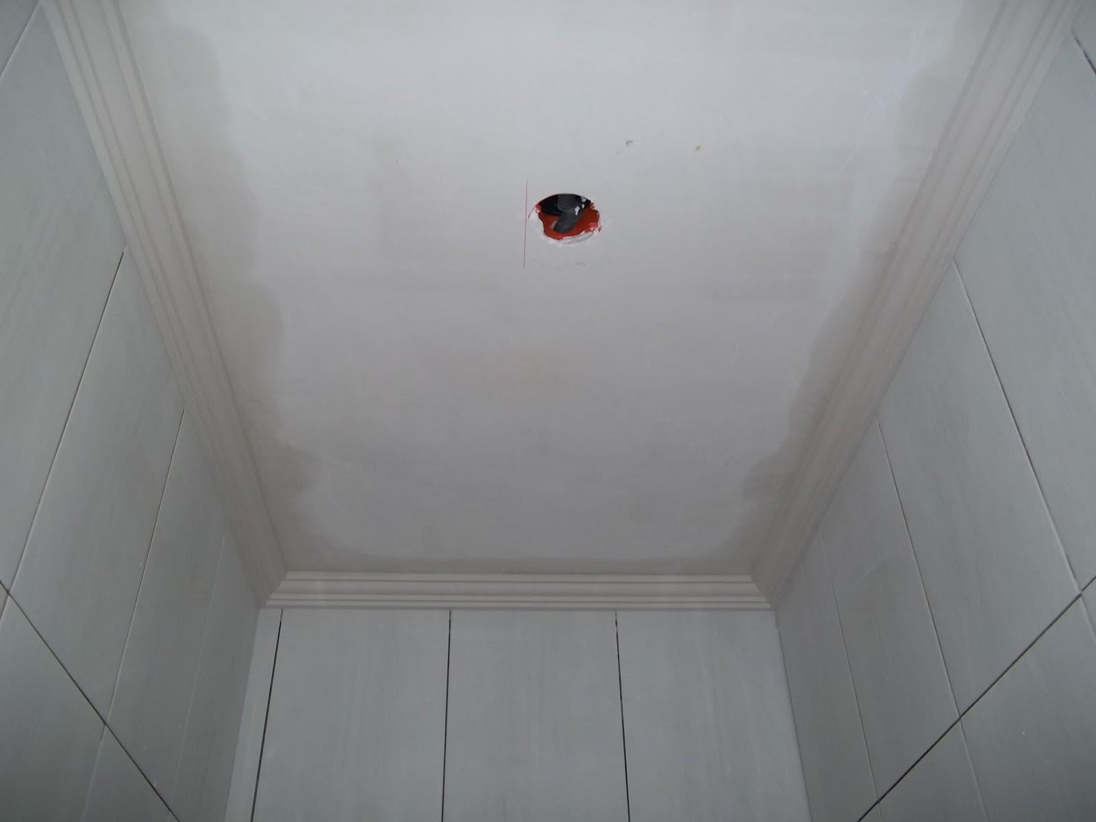 Nossa Casa Léo e Aline: Detalhes Gesso #6F2820 1600x1200 Banheiro Com Gesso