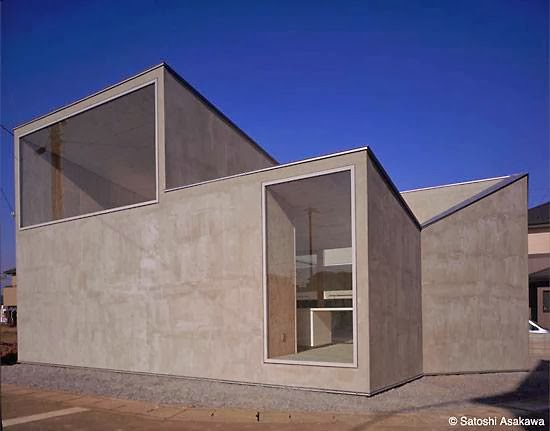 Arquitectura de casas residencia contempor nea con formas for Casa minimalista japonesa