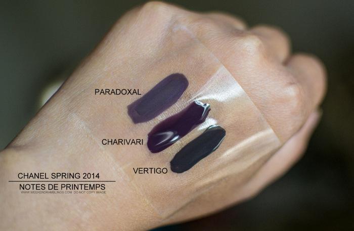 Chanel Charivari Nail Polish - Swatches Comparisons - Paradoxal Vertigo