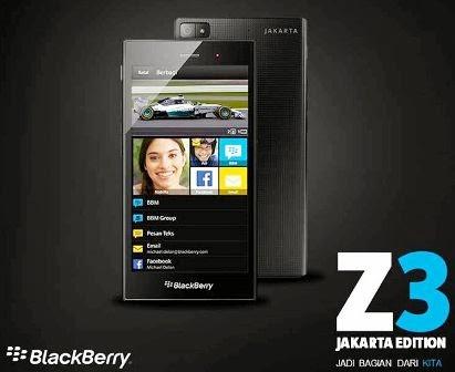 Spesifikasi dan harga Blackberry Jakarta Z3