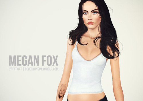 My Sims 3 Blog Megan Fox By Fat Cat
