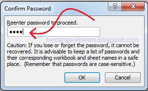 memberi pasword pada file excel