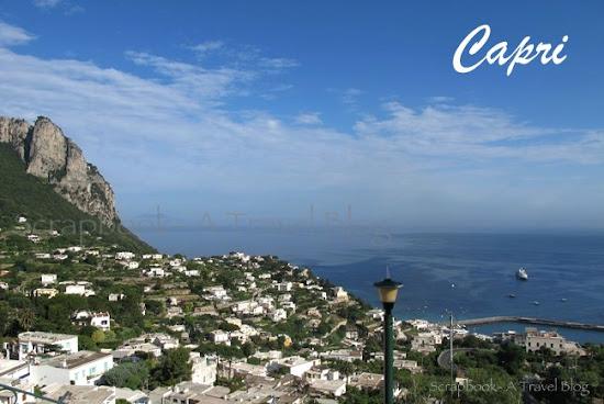 Capri coastline Italy