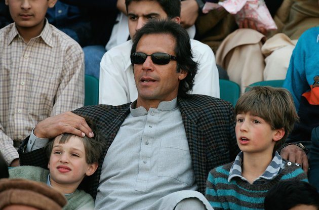 Imran Khan and his sons Qasim and Suleiman Khan