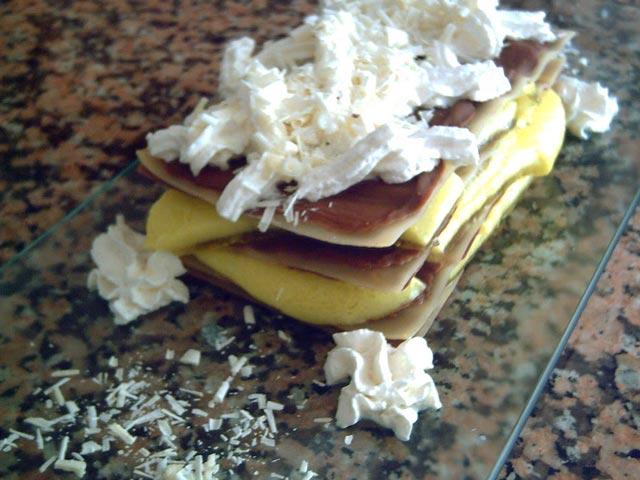 Lasaña de chocolate y limón