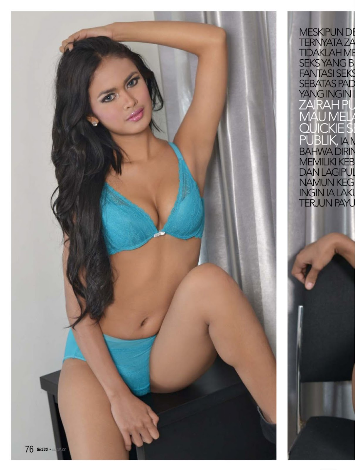 sexy model zairah maharani gress magazine sexy88