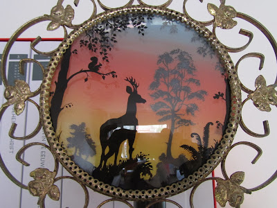 vintage lamp with deer