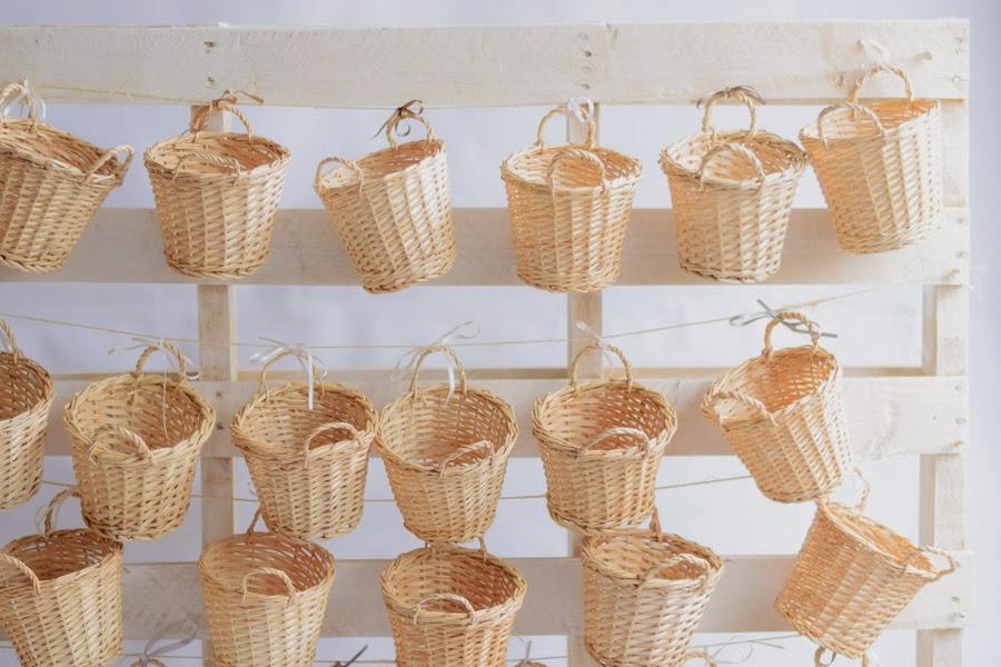 Calendario de adviento con cestas