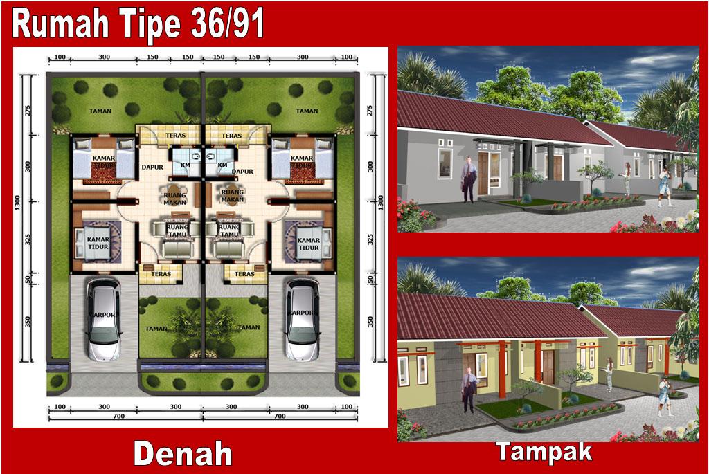 rumah minimalis type 36 90