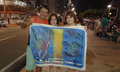Pinturas vendidas no calçadão de Meireles, Fortaleza - CE