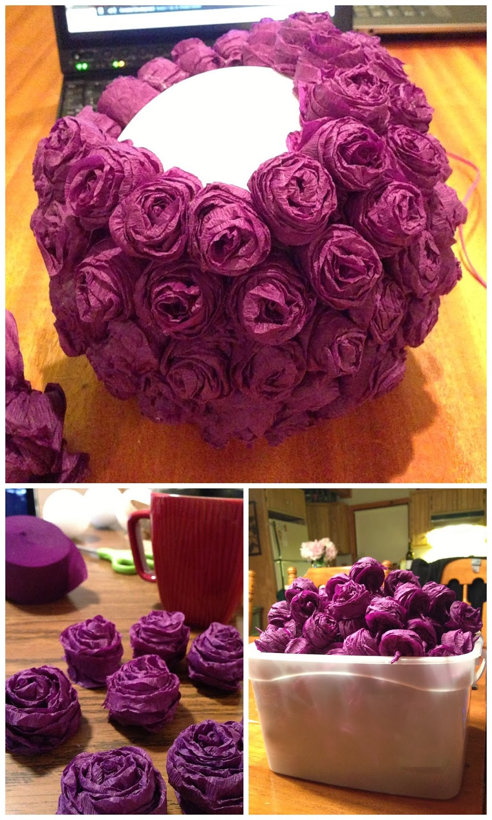 Twins in the cities diy flower ball centerpieces