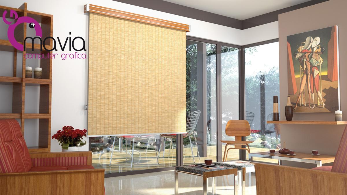 Arredamento di interni fotografia virtuale 3d i tende for Tessuti per tende moderne