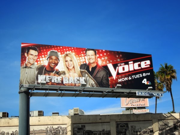 The Voice season 6 We're Back billboard