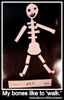 photo of: My bones like to walk. (Bones Book from LizzLessons via RainbowsWithinReach)