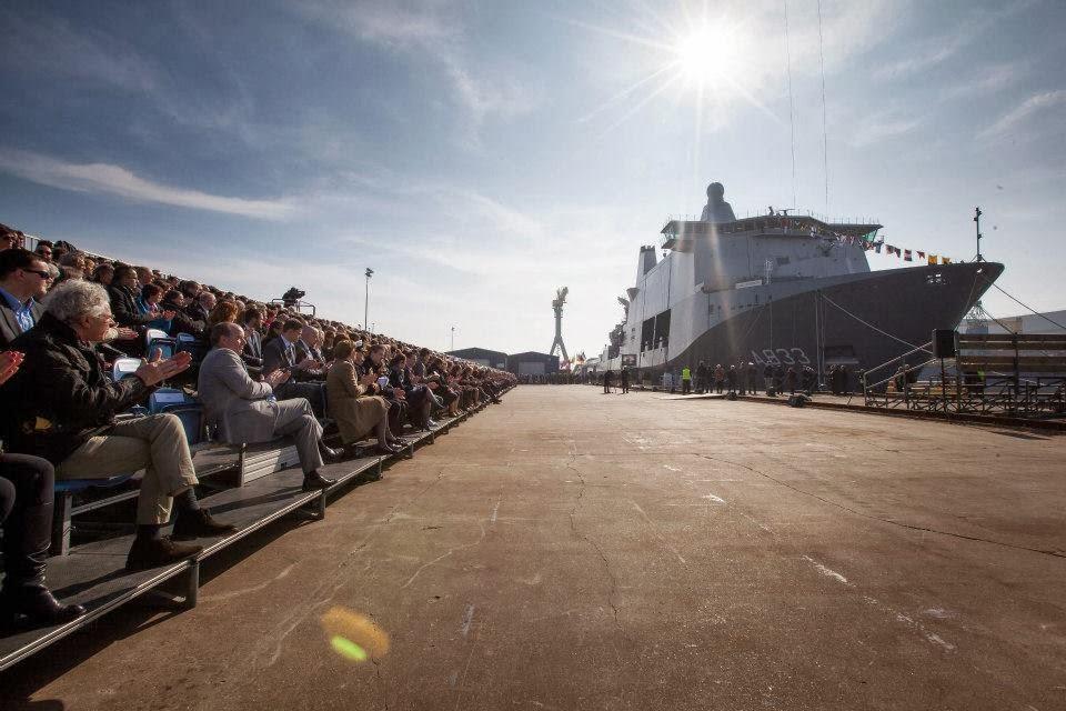 New Dutch naval vessel HNLMS Karel Doorman Doop+JSS