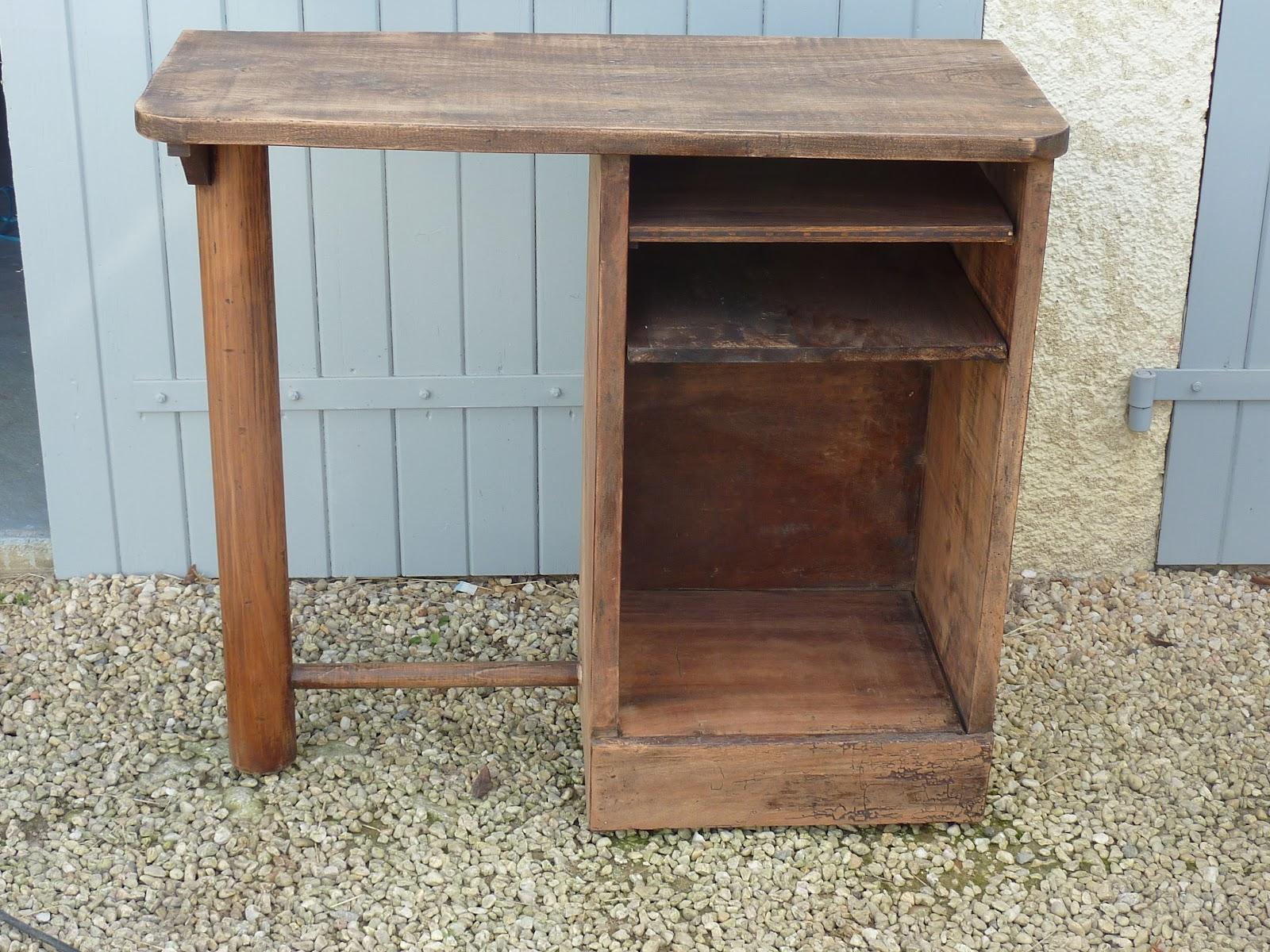 meuble peint imitation marquetterie et m tal rouill d co 39 ccinelle. Black Bedroom Furniture Sets. Home Design Ideas