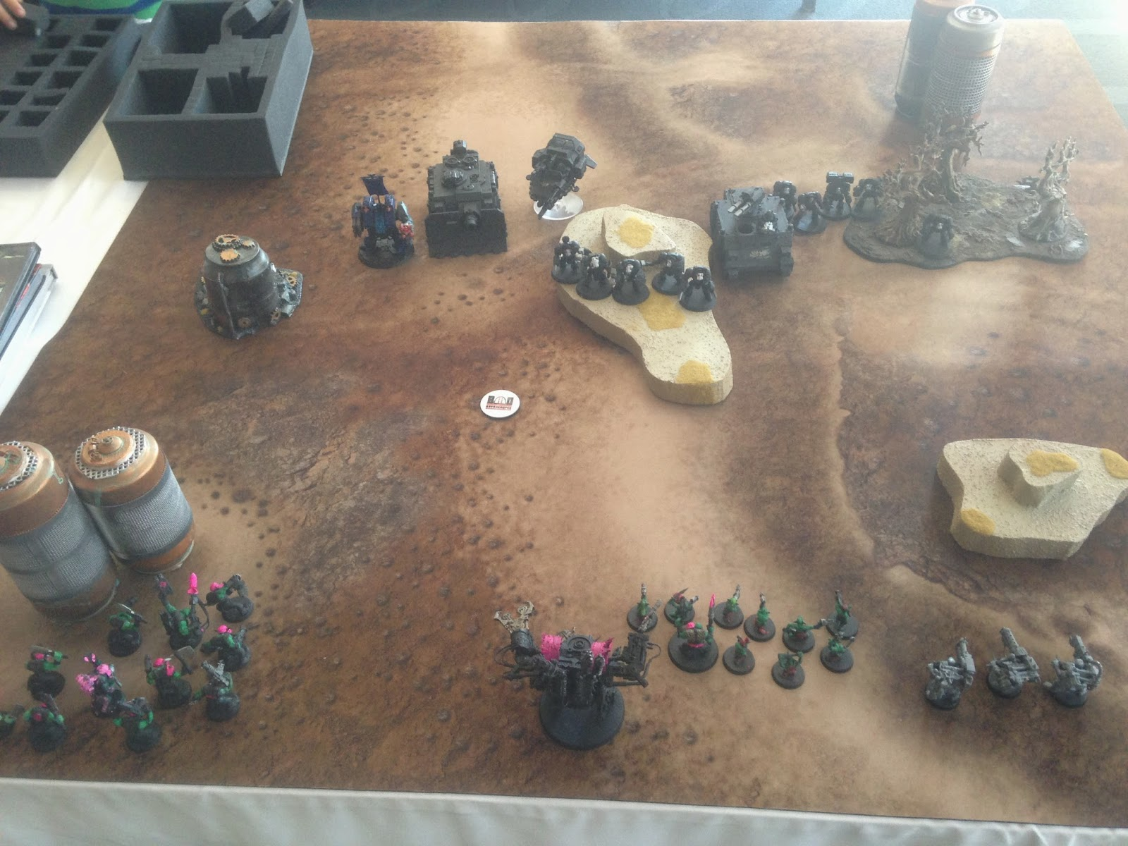 Battle Gaming One, BAO 2014, Bay Aare Open Warhammer, Space Marines, Orks