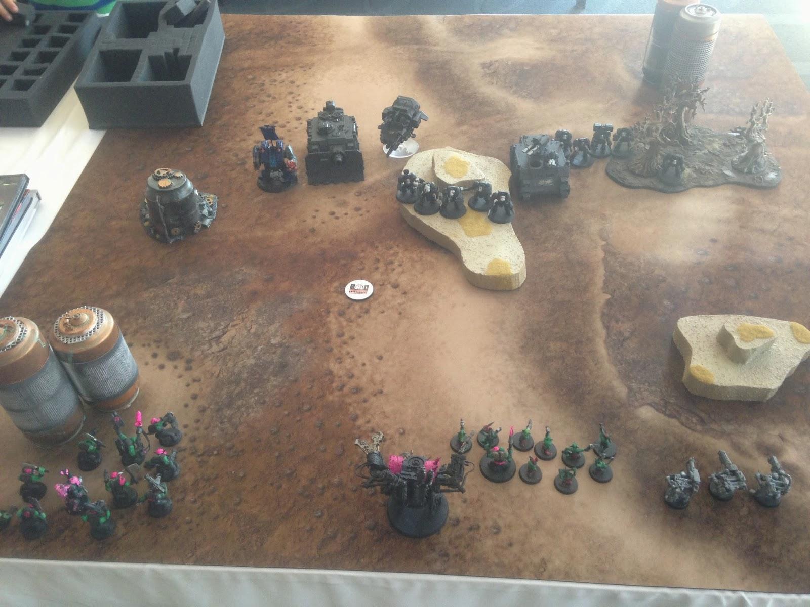 Battle Gaming One, BAO 2014, Bay Aare Open Warhammer, Space Marines, Orks