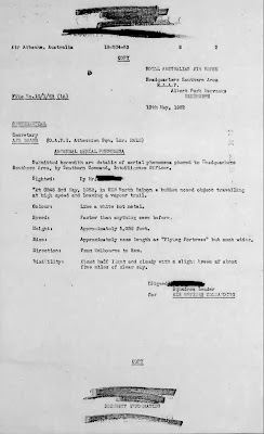 Abnormal Aerial Phenomena - RAAF (Australia) (1 of 7) (8 X 11) 5-13-1952