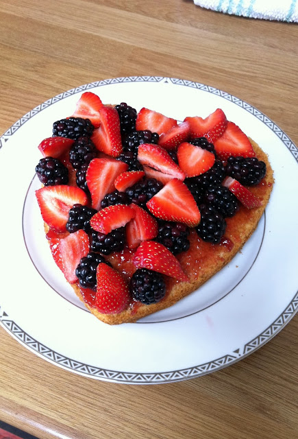 Fresh berries in my Victoria Sponge Cake