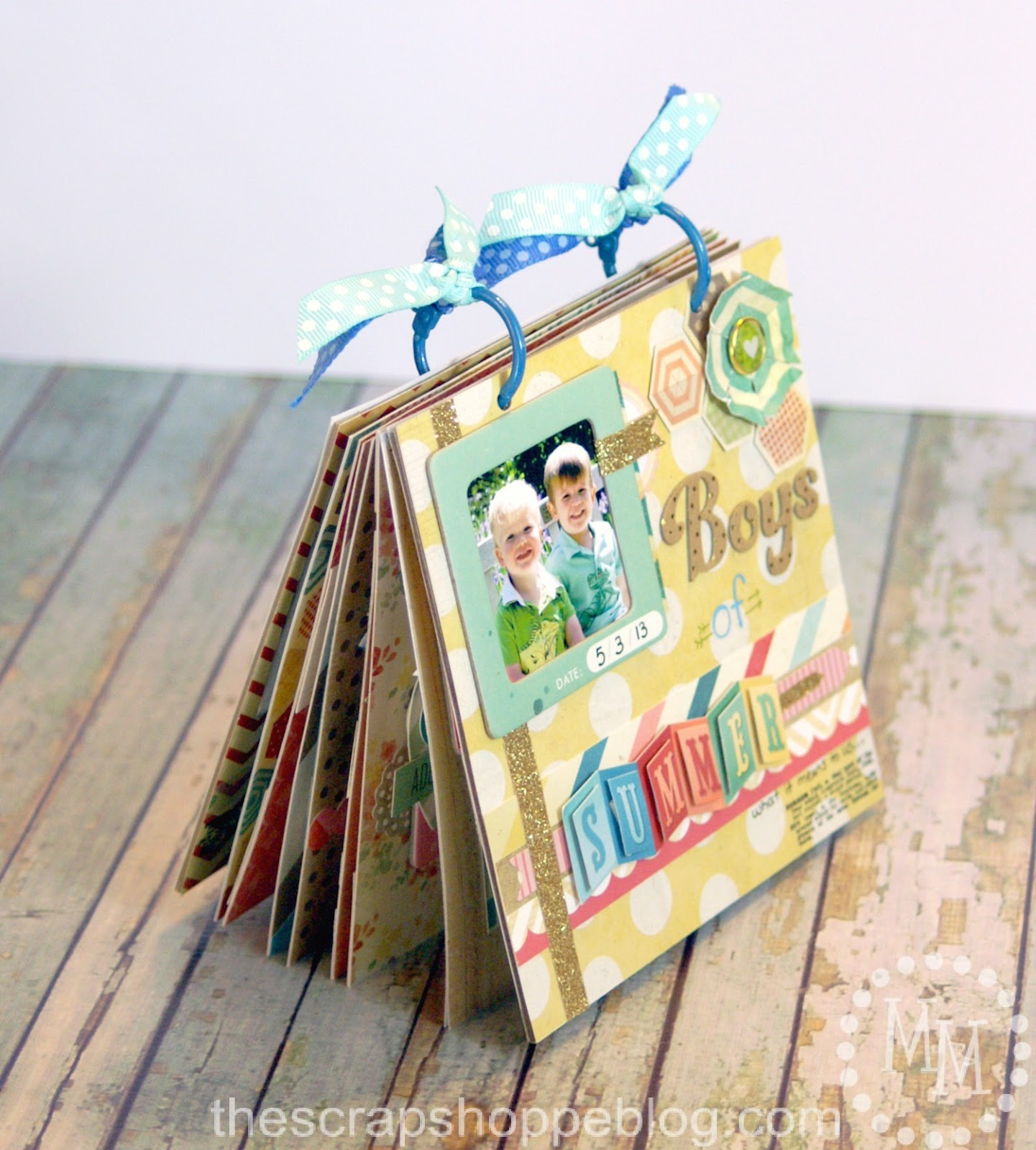boys of summer mini album scrapbooking tips tricks the scrap shoppe. Black Bedroom Furniture Sets. Home Design Ideas