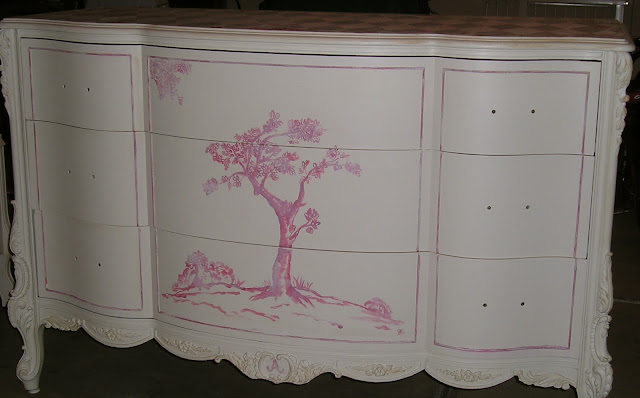 Dressser painted by Jennifer Rizzo updated vintage set