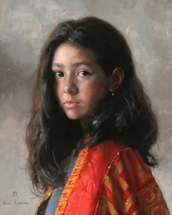 Arsen Kurbanov 1969 | Russian Portrait painter