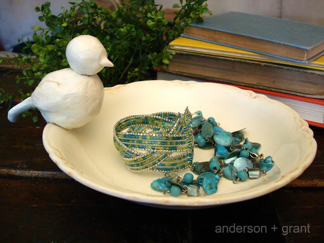 Tutorial for making a bird dish inspired by Pottery Barn | www.andersonandgrant.com