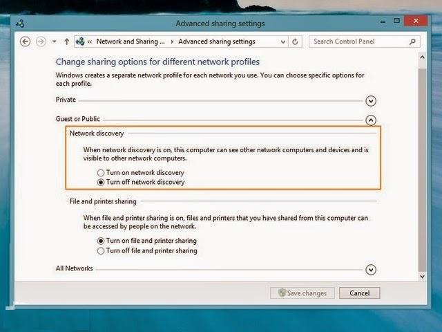 Cara Mengaktifkan Network Discovery Di Windows 8