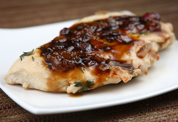 This Apricot Balsamic Chicken recipe caught my eye and made me