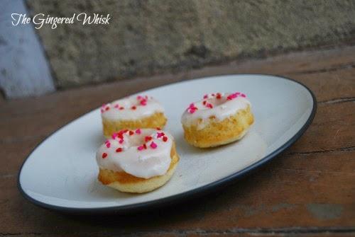 Mini Meyer Lemon Donuts - The Gingered Whisk