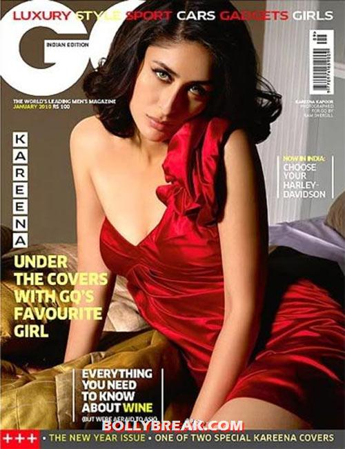 Kareena Kapoor on the cover of GQ - (8) - Kareena Kapoor in RED Dresses
