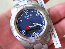 TISSOT T TOUCH BLUE DIAL SIZE 40mm - TITANIUM CASE AND BRACELET