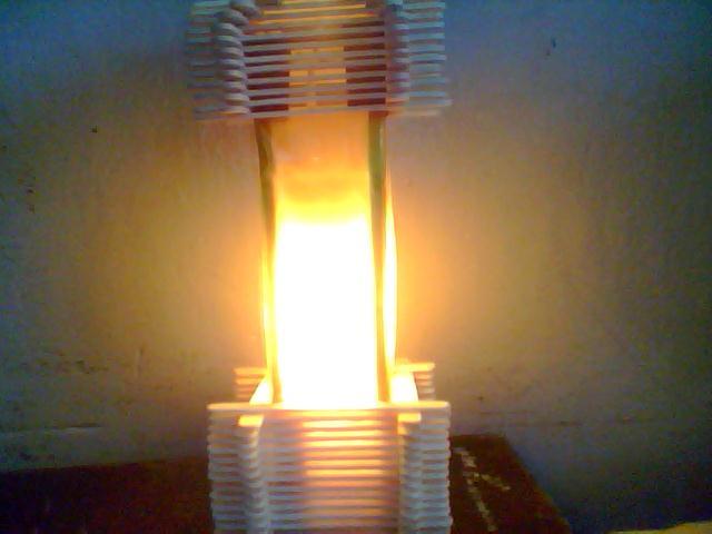 Membuat Lampion dari stik es-krim