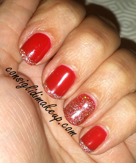 Nail Art Red Christmas