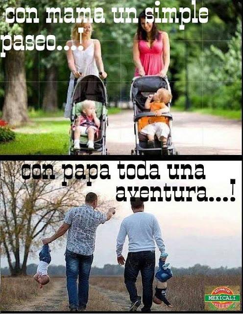 Diferencia: Pasear con mama y papa