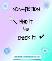 photo of NonFiction Find It and Check It, PDF, student worksheets, graphic organizers, TeachersPayTeachers